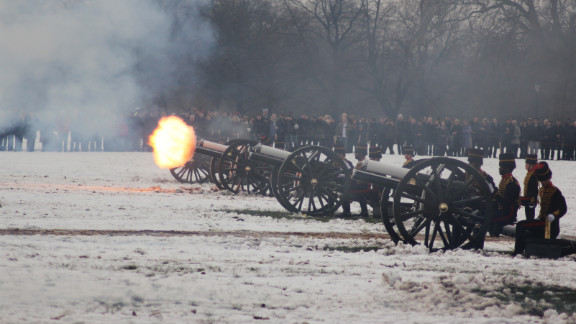 A royal salute normally comprises 21 guns, increased to 41 if fired from a royal residence.