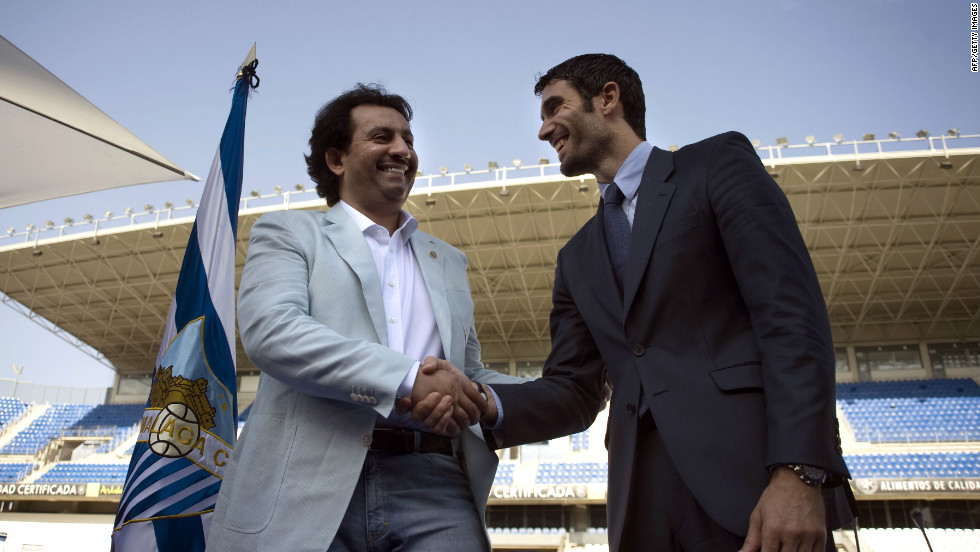 Sheikh Abdullah Bin Nassar Al-Thani (left), a member of the Qatari royal family, bought Spanish club Malaga for €36 million ($48 million) in June 2010. The investment brought with it a place in this season's UEFA Champions League. Malaga went on to reach the quarterfinals.