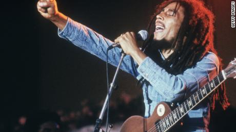 Bob Marley performs in Stockholm, Sweden, on January 1, 1978.