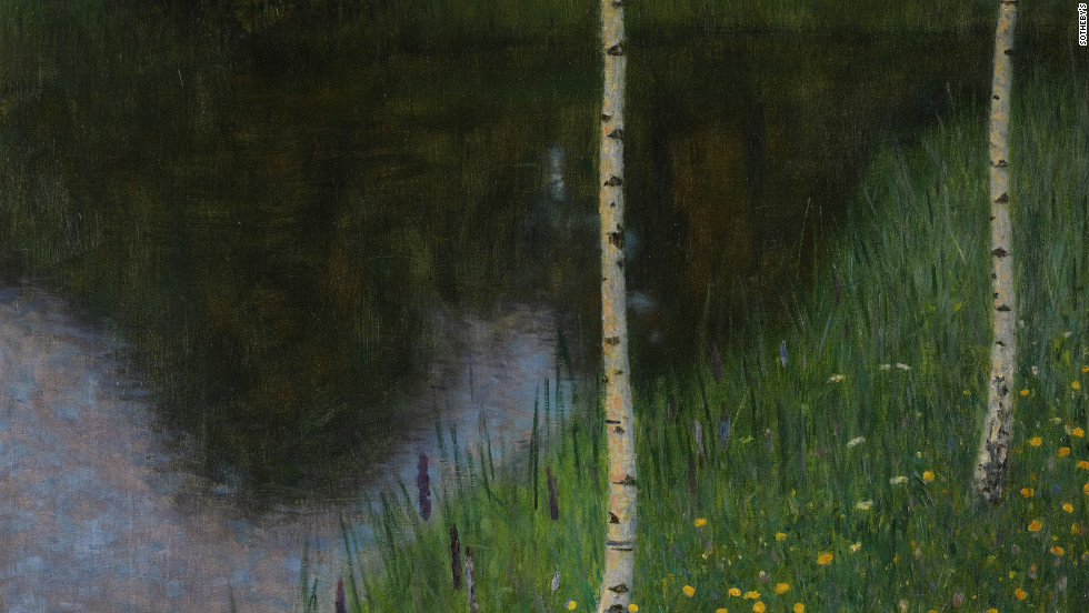 """Lakeshore with birches,"" by Gustav Klimt, 1901, is also being offered up for sale at Sotheby's. It is estimated to sell for between $9.5 million and $13 million."