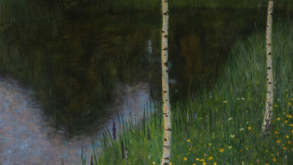"""""""Lakeshore with birches,"""" by Gustav Klimt, 1901, is also being offered up for sale at Sotheby"""