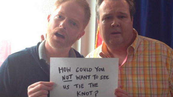 Jesse Tyler Ferguson and Eric Stonestreet took to Twitter to celebrate the striking down of Proposition 8.