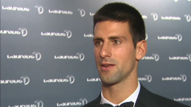 Djokovic talks to CNN at the laureus sports awards