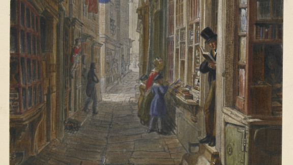 """As a boy, Dickens frequented """"pudding shops"""" near the warren of small alleys and lanes south of St Martin"""