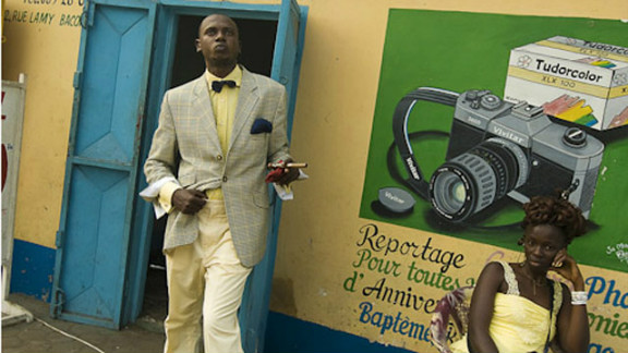 Tamagni traveled to Brazzaville in 2008 to photograph the Sapeurs. Kinshasa, in DR Congo, has its own Sapeur scene.