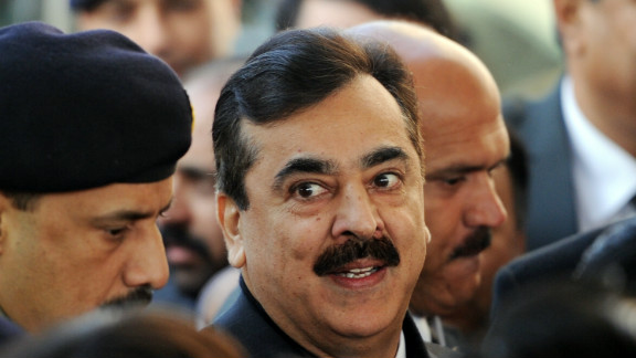 Pakistani Prime Minister Yousuf Raza Gilani arrives at the Supreme Court in Islamabad on January 19, 2012.