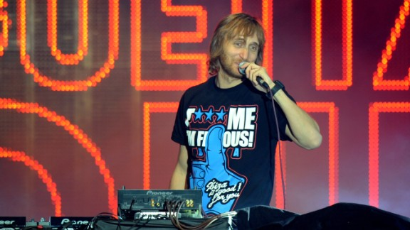DJ David Guetta performs at a music festival in July 2011.