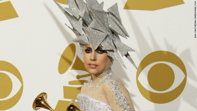 Lady Gaga at the 2009 Grammys in Los Angeles.