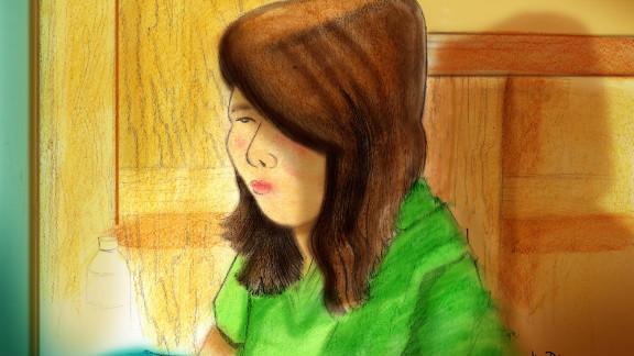 An artist's sketch shows Alyssa Bustamante, 18, in court Wednesday in Jefferson City, Missouri.
