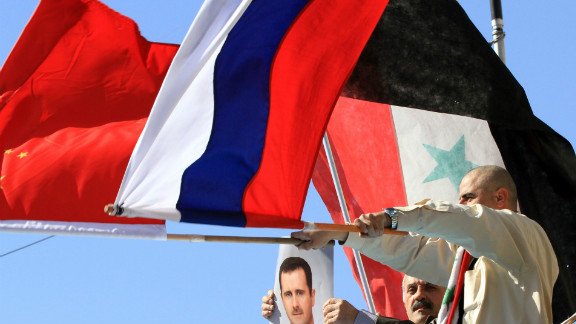 Supporters of Syria