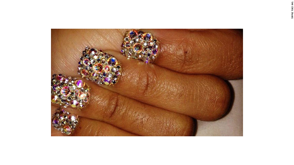 Three-dimensional nail art that uses charms and rhinestones has long been a trend in salons like Tippie Toes in Miami.