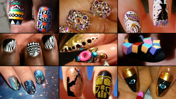 Mainstream America is embracing wild forms of nail art like never before, thanks to the affordability and accessability of nail accessories. Click through the gallery to see samples from professionals and DIYers.
