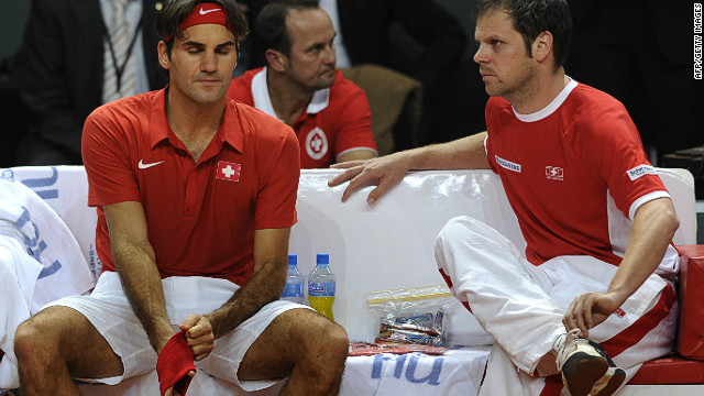 Roger Federer has endured a miserable two days losing his singles match on Friday and a doubles match on Saturday.