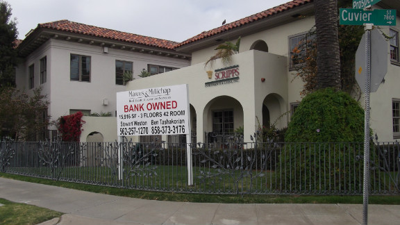 For sale and foreclosure signs in California.
