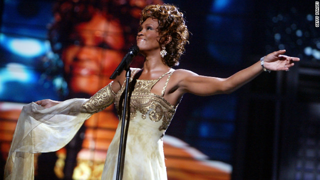 Singer Whitney Houston performs at the 2004 World Music Awards on September 15, 2004 in Las Vegas.