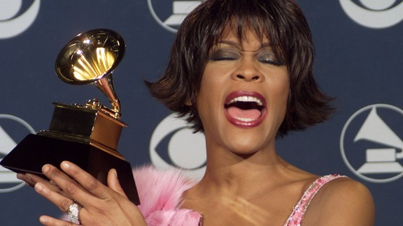 Houston appears at the Grammy Awards in February 2000.