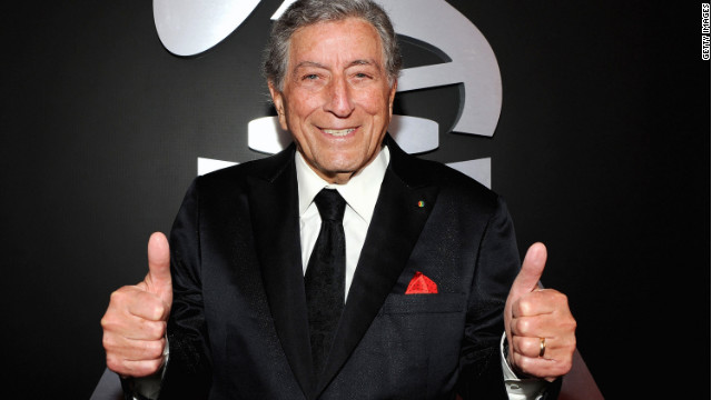 Singer Tony Bennett arrives at the 54th Annual GRAMMY Awards held at Staples Center on February 12, 2012 in Los Angeles, California.