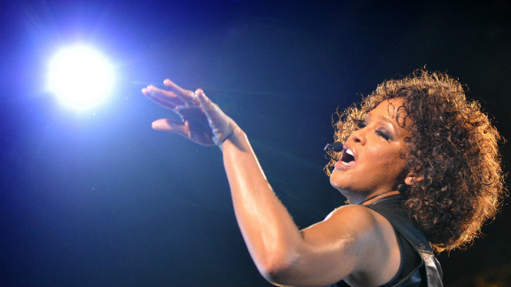 """Whitney Houston performs during her """"Nothing But Love"""" tour in Berlin on May 12, 2010."""