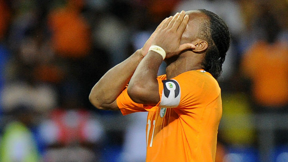 Drogba could have put the Ivory Coast ahead midway through the second half, but fired his penalty high over the crossbar. The Chelsea striker also missed a spot-kick in the Elephants