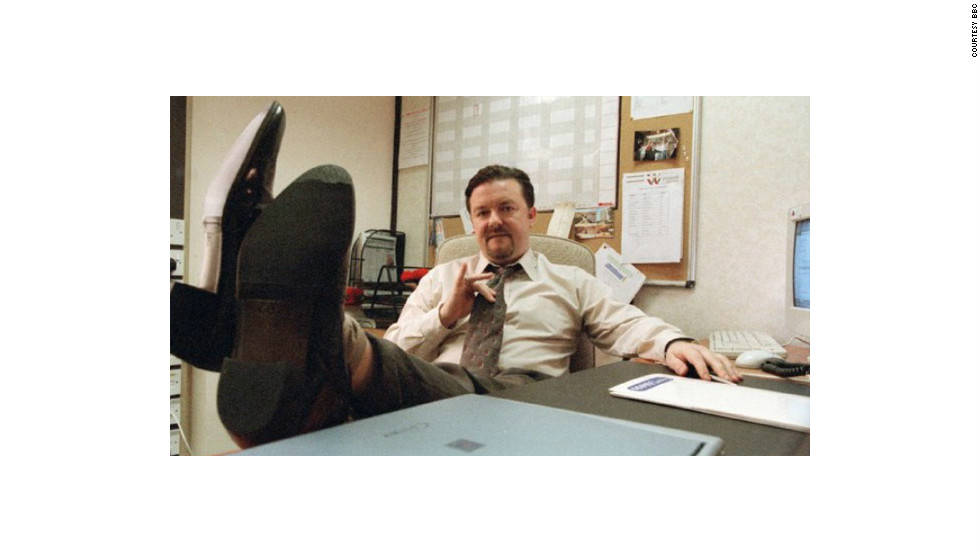 Ricky Gervais Plays Inept Boss David Brent In The British Version Of TV  Show U0026quot;
