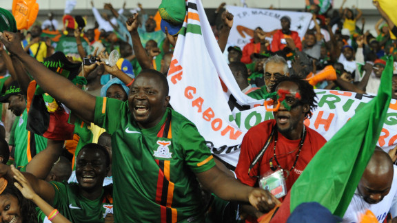 Zambia fans at the Stade d