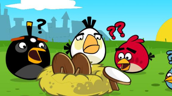 """""""Angry Birds,"""" the massively popular mobile game, made its debut on Facebook on Valentine"""
