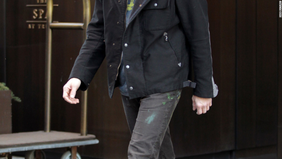 Jim Carrey leaves a hotel in New York City.