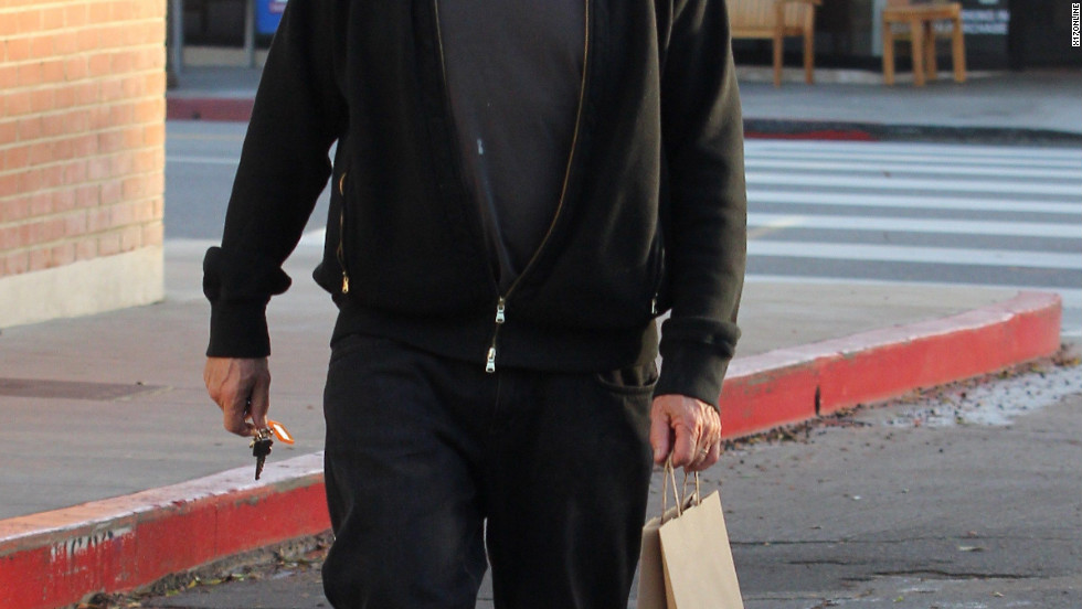 Dustin Hoffman goes to a bookstore in Santa Monica.