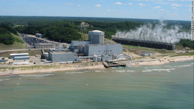 The Palisades nuclear power plant, operated by Entergy Corp., stands on the shore of Lake Michigan in Covert, Michigan.