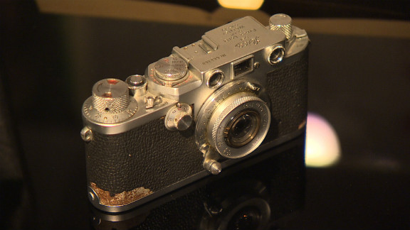 Original Leica camera used by Mossad agents in Argentina to take photos of Adolf Eichmann. The pictures were compared to SS photos of Eichmann in Mossad files, where a 10-point analysis of his ears was used to identify him.