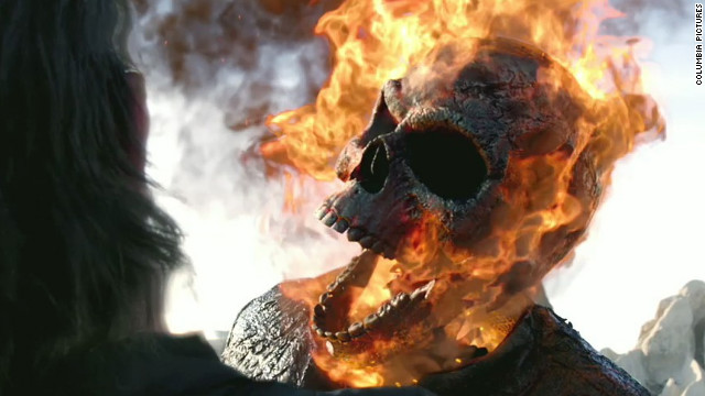 """Ghost Rider: Spirit of Vengeance"" stars Nicolas Cage as Ghost Rider and Johnny Blaze."