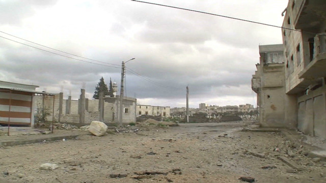 Walking through a deserted Homs