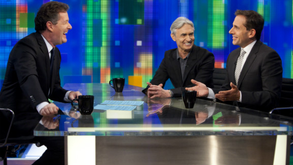 Steve Carell (right) and David Steinberg are guests on Monday