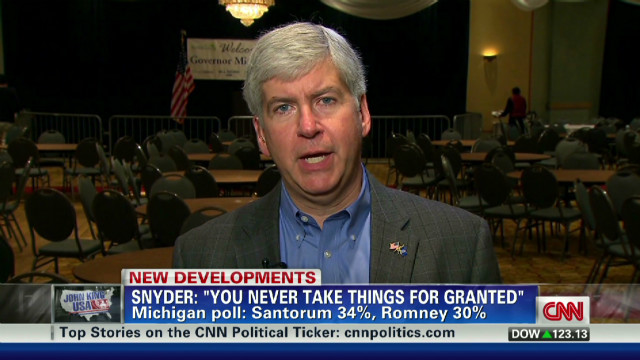 Romney As Governor >> Michigan governor backs Romney - CNN Video