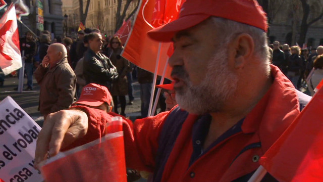 Protest against Spanish labor market changes