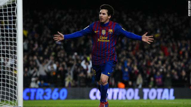 Argentina striker Lionel Messi scored four times against Valencia to take his league tally for the season to 27.