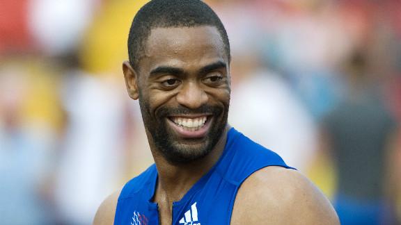 American sprinter Tyson Gay says he