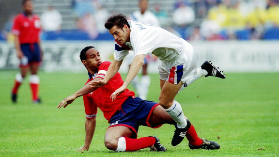 Midfielder Paul Ince built on the legacy of players like Cunningham and Anderson in 1993, when he became the first black player to captain England in a 2-0 friendly defeat against the U.S. In a career where he played for Manchester United, Liverpool and Inter Milan, he collected two league titles and a European Cup Winners