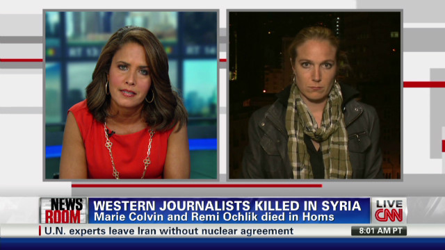Western journalists killed in Syria