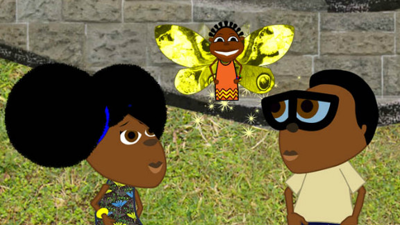 """Nigerian cartoon """"Bino and Fino"""" tells the story of a brother and sister who live with their grandparents in an unnamed African city."""