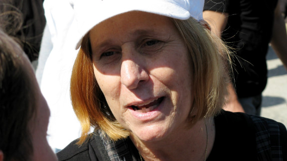 Cindy Sheehan was among protesters who gathered in front of the White House in October 2009. She was arrested that day.