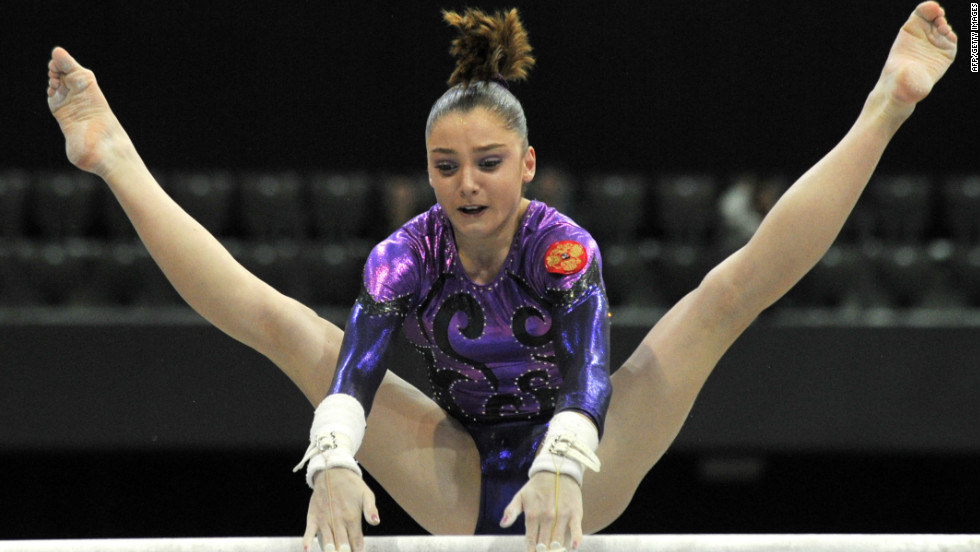 "Pinches also looks up to world champion Russian gymnast Aliya Mustafina, a fellow 17-year-old who she describes as ""incredible."""