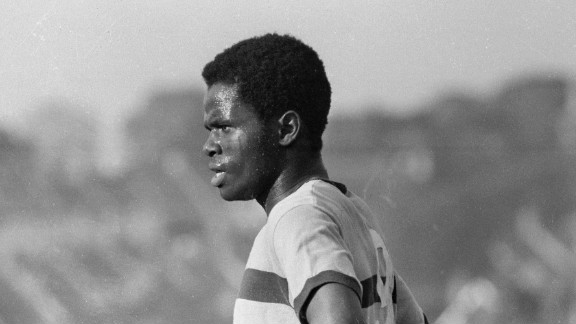 Greenwood was in charge of West Ham at a time when a number of black players featured in the first team. The first was fullback John Charles in 1962, who was followed his brother Clive, Best and Nigerian striker Ade Coker -- pictured here -- who represented the U.S. at international level.