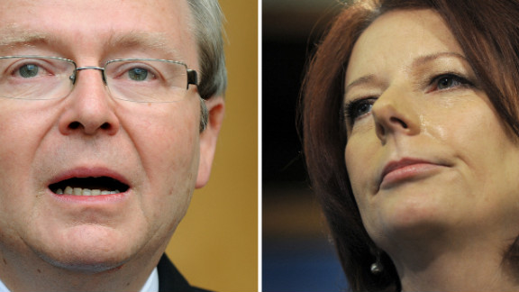 On Monday, members of Australia's Labor Party will be asked to choose between Kevin Rudd and Julia Gillard.