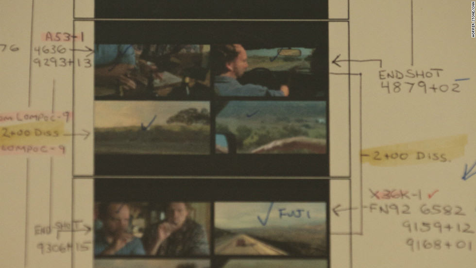 "Among Tent's memorabilia is a split-screen diagram from ""Sideways,"" made for a production house."