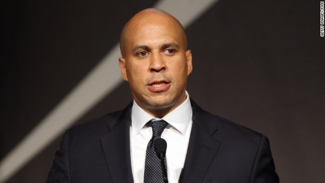 "Newark, New Jersey, Mayor Corey Booker said unprovoked surveillance of Muslims in his city ""clearly crosses a line."""
