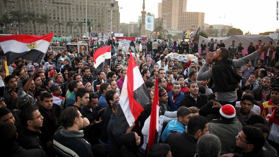 But in downtown Tahrir Square, protesters have been too busy creating the news to watch it unfold on televison.