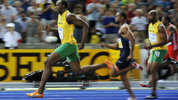 Two years later in Berlin though, triple Olympic champion Bolt won gold in the 100m and 200m, setting world record times in both. Gay had to settle for silver in the 100m.