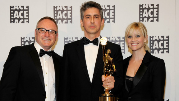 Both Tent, left, and Payne (with Reese Witherspoon) took home prizes at this year's ACE Eddie Awards.