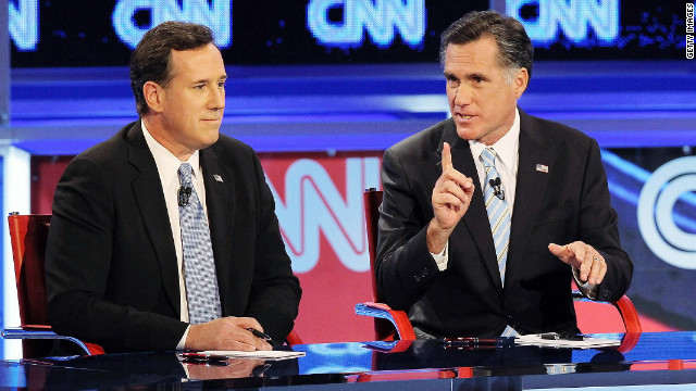 Rick Santorum and Mitt Romney are both hoping for a win in Michigan on Tuesday.